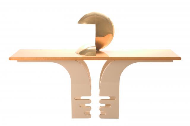 """Console et lampe """"Planète"""". Les Sculptures Utilitaires by Pierre Cardin -"""