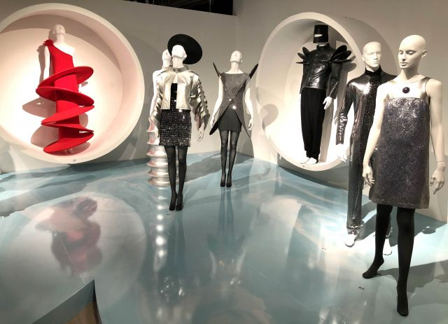 "Pierre Cardin: 2018 - Retrospective exhibition ""Pierre Cardin: Pursuit of the Future,"" from March 27 to October 28, 2018 at the SCAD FASH Museum of Fashion + Film (Atlanta, USA)."