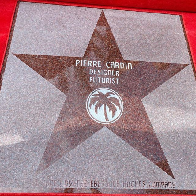 Pierre Cardin: 2020 - On February 20th, Pierre Cardin was honored at a dedication ceremony adding him to the Palm Springs Walk of Stars.